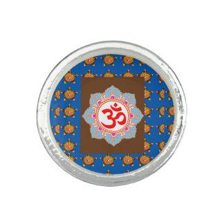 Symbol för ramsa för meditation för OMmantra Om Ringar