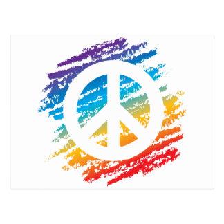 Symbol för regnbågeCrayonfred Vykort