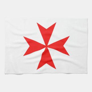 symbol för religion för malta templar riddareRöda Kökshandduk