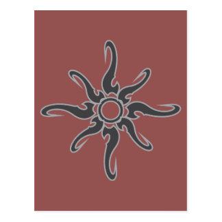 Symbol för skåra för solfläck stam- vykort