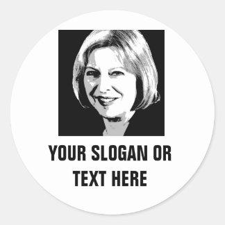 Symbol för Theresa majansikte - Runt Klistermärke