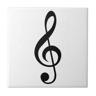 Symbol för TrebleklavG-Klav musikal Liten Kakelplatta