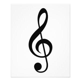 Symbol för TrebleklavG-Klav musikal Reklamblad 11,5 X 14 Cm