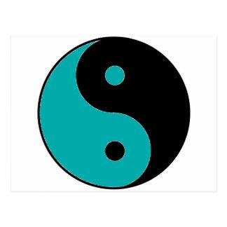 Symbol för YIN YANG Vykort