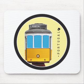 Symboler av Portugal - den Lisbon spårvägen Musmatta
