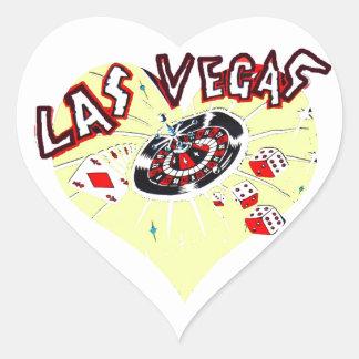 Symboler för dobbleri för Las Vegas hjärtaShape Hjärtformat Klistermärke