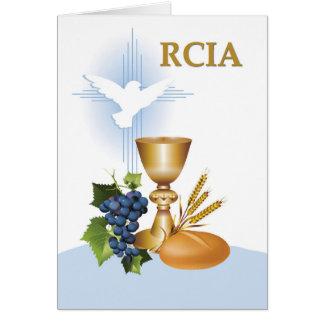 Symboler för Sacrament för RCIA-grattis katolska Hälsningskort