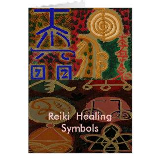 Symboler för USUI REIKI Hälsningskort