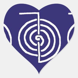Symbolisk konst: Reiki Chokurai Hjärtformat Klistermärke