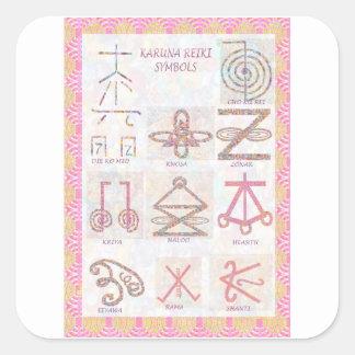 Symbolisk KONST: Reiki styr övar verktyg Fyrkantigt Klistermärke