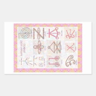 Symbolisk KONST: Reiki styr övar verktyg Rektangulärt Klistermärke