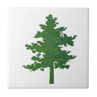 Symboliskt grönt miljöträd för navinJOSHI NVN37 Liten Kakelplatta