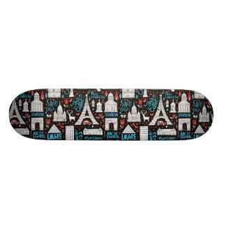 Symbolmönster för frankriken | mini skateboard bräda 18,5 cm