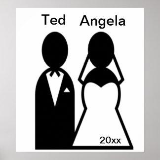 Symbolsbröllop kopplar ihop affischer