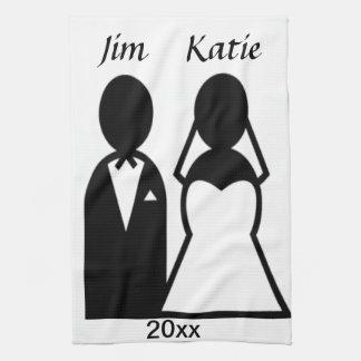 Symbolsbröllop kopplar ihop kökshandduk