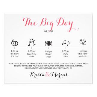 Symbolsbröllopresplan - destinationsbröllop flygblad