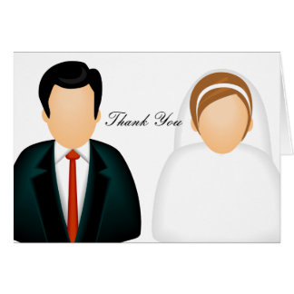Symbolsbrölloptack Hälsningskort