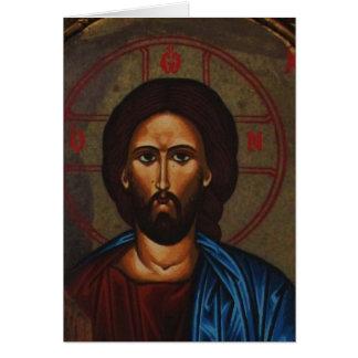 SymbolsJESUS för Byzantine grekisk ortodox KRISTUS Hälsningskort