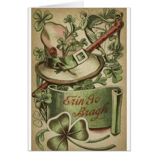 SymbolSts Patrick för vintage irländskt kort för