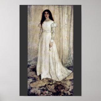 Symfoni ingen 1 i Wiess flickor i vit av James Abb Poster