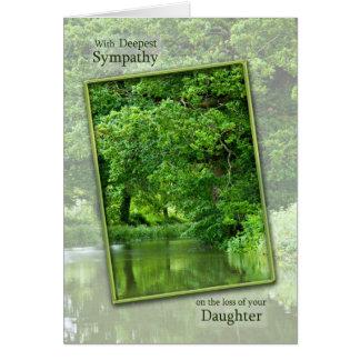 Sympatiförlust av dottern, stillsam flodplats hälsningskort