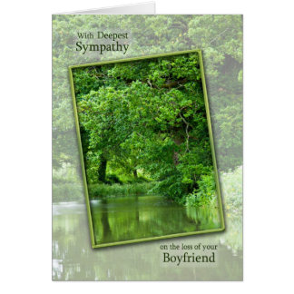 Sympatiförlust av pojkvännen, stillsam flodplats hälsningskort