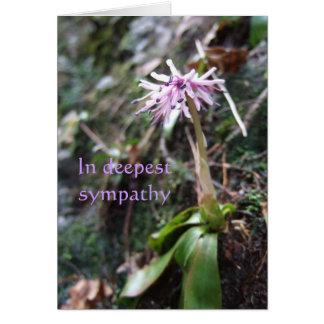Sympatikort: lilablomman & grieve djupt dikt hälsningskort
