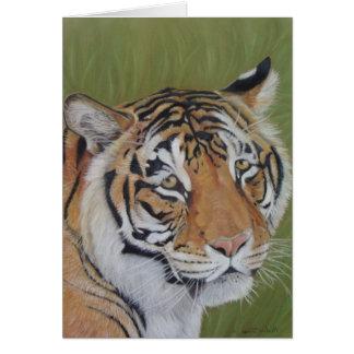 synar den stora katten för tigern med ledsen hälsningskort