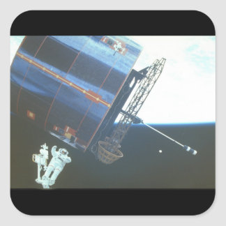 Syncom IV-3_Space Fyrkantigt Klistermärke