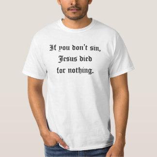 Synda för Jesus T Shirts