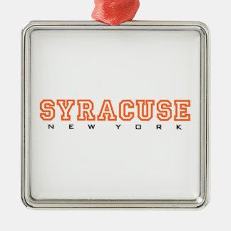 Syracuse New York - brev Julgransprydnad Metall