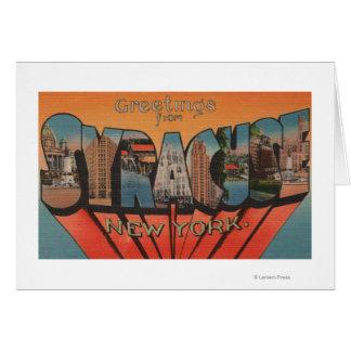 Syracuse New York - stora brevplatser Hälsningskort