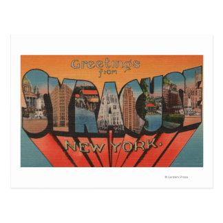 Syracuse New York - stora brevplatser Vykort