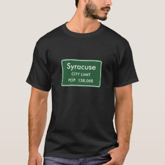 Syracuse NY-stad begränsar undertecknar T Shirt