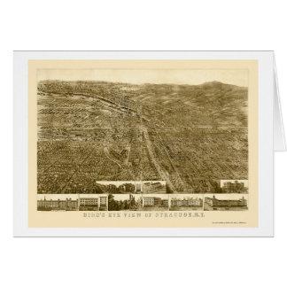 Syracuse panorama- karta för NY - 1868 Hälsningskort