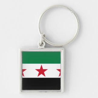 syria opposition fyrkantig silverfärgad nyckelring