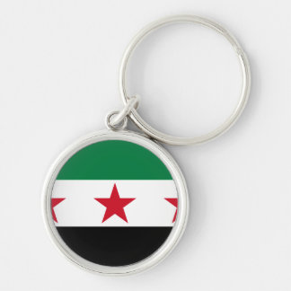 syria opposition rund silverfärgad nyckelring