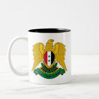 syria vapensköld Två-Tonad mugg