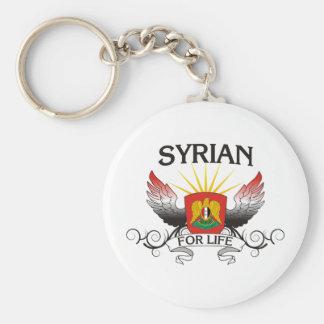 Syrian för liv rund nyckelring