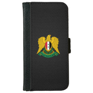 Syriansk vapensköld plånboksfodral för iPhone 6/6s