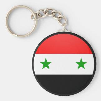 Syrien cirklar den kvalitets- flagga rund nyckelring