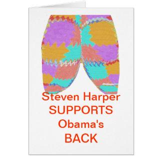 SYRIEN: Den Steven harperen DRAR TILLBAKA Obama Hälsningskort