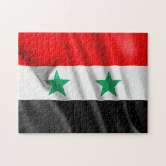 """Syrien flagga 11"""" x 14"""" fotopussel med gåvan boxas"""