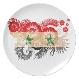 Syrien flagga dinner plates