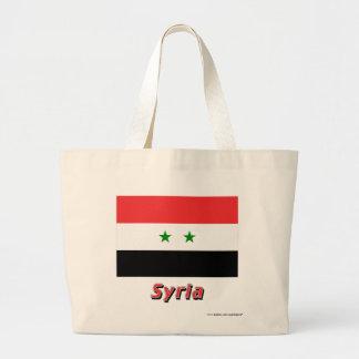 Syrien flagga med namn kasse