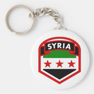 Syrien flagga rund nyckelring