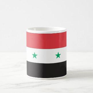 Syrien flagga vit mugg
