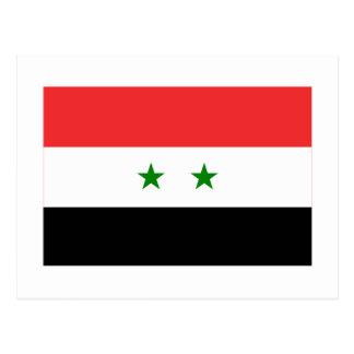 Syrien flagga vykort