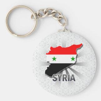 Syrien flaggakarta 2,0 rund nyckelring