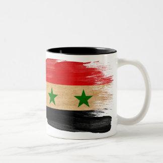 Syrien flaggamugg Två-Tonad mugg